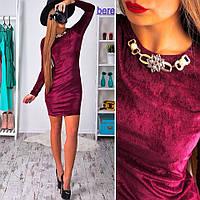 abbb6f84acd Платье бархатное с украшением мини разные цвета SMb960