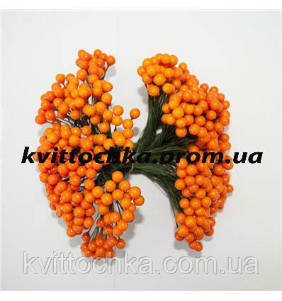 """Ягоды """"Калина"""" оранжевая на проволоке 8 мм."""