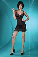 Эротическая ночная рубашка Florizel Black Livia Corsetti S/M, черный