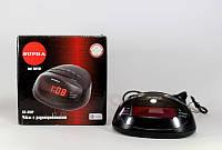 Электронные часы с радио FM 318, светодиодный дисплей, 15х14х9 см, 2 режима будильника
