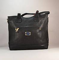 Стильная вместительная черная женская сумка 2212