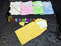 Полотенце-уголок с капюшоном Lamoda желтое