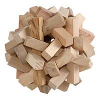 Солнышко деревянная головоломка ручной работы