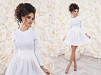 Очень красивое платье с фатином ткань жаккард цвет белый