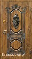 Двери входные металлические «Sangria» стеклопакет 157 Серия «RESISTE»
