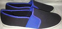 Кеды тапки слипоны REDSUN черно-синий