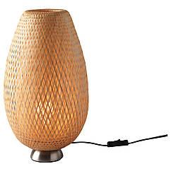 BÖJA Настольная лампа, niklowano, ротанг 601.522.79