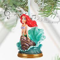 Ариэль русалочка Дисней поющая елочная игрушка/ Ariel Singing Sketchbook Ornament Disney