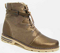 Женские зимние ботинки из кожи, женская обувь больших размеров от производителя модель М51И93