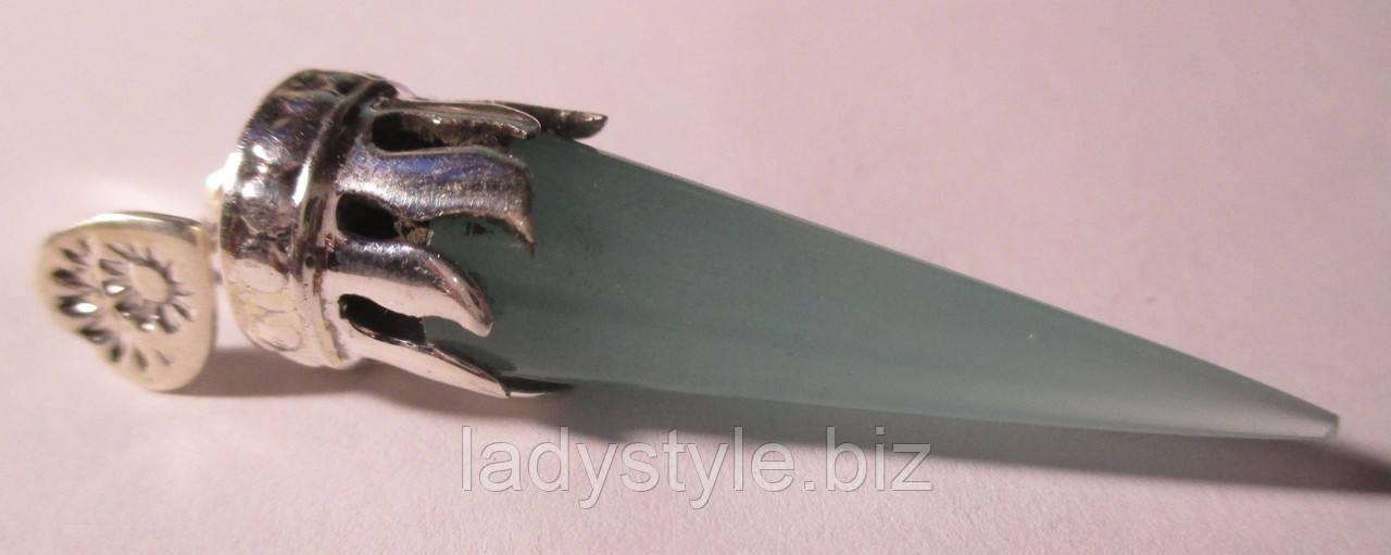 """Оригинальный кулон  с голубым халцедоном """"Единорог"""", от студии LadyStyle.Biz, фото 1"""