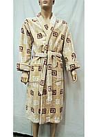 Халат махровый мужской длинный 58 размер