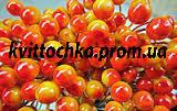 """Ягоды """"Калина"""" желто-красная на проволоке 12 мм."""