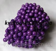 """Ягоды """"Калина"""" фиолетовая на проволоке 12 мм."""