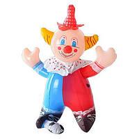 Надувная игрушка MS 0649 клоун, пищалка,35см, в кульке, 15-13см ( Ч )
