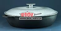 Чугунная жаровня 28см с алюминиевой крышкой БИОЛ 03281. Чугунная посуда
