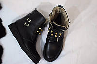 Женские зимние ботинки на цегейке от TroisRois из натуральной турецкой кожи