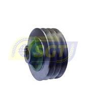 Малый шкив ременной передачи (3-ручейный) для роторной косилки 1.35