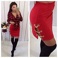 Женская стильная трикотажная юбка