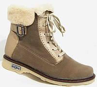Ботинки женские зима на низком ходу, женская обувь больших размеров от производителя модель М52И07