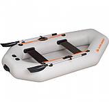 Надувная лодка Kolibri К-280 СТ гребная двухместная, со слань-ковриком, фото 4