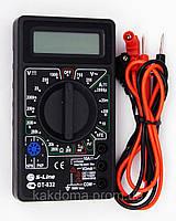 Цифровой мультиметр (тестер). DT-832, амперметр, вольтметр