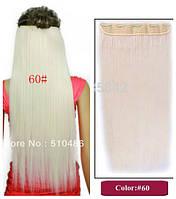 Волосы ТЕРМО на заколках тресс прядь  63см #60