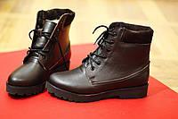 Женские зимние ботинки на шести от TroisRois из натуральной турецкой кожи