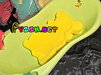 Матрасик для купания в детскую ванночку (с двумя мочалками) желтый