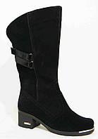 Сапоги женские зима большого размера кожа замша, женская обувь больших размеров от производителя модель М14И32