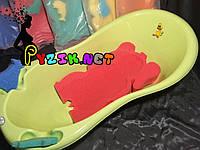 Матрасик для купания в детскую ванночку (с двумя мочалками) розовый, фото 1