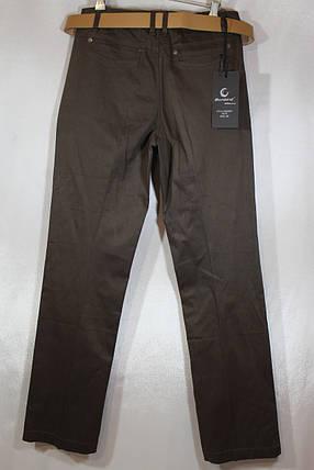 Женские коричневые джинсовые брюки большого размера, фото 2
