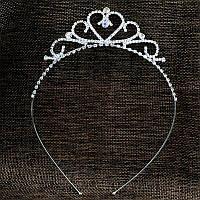 Детская корона, диадема для девочки, высота 3,5 см.