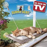 Кровать для кота. Оконная кровать SUNNY SEAT WINDOW MOUNTED CAT BED. Украина