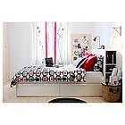 Каркас кровати IKEA BRIMNES 160x200 см с изголовьем белый 590.991.55, фото 5