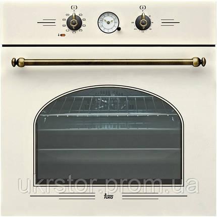 """Духовой шкаф TEKA HR 650 (Rustica), """"білий крем"""", ручки """"латунь"""", фото 2"""