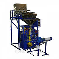 Фасовочно упаковочный автомат механический с тремя весовыми дозаторами.