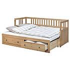 Кушетка с 2 матрасами и 2 ящиками IKEA HEMNES 80x200 см светло-коричневый Малфорс 191.834.72, фото 2