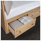 Кушетка с 2 матрасами и 2 ящиками IKEA HEMNES 80x200 см светло-коричневый Малфорс 191.834.72, фото 3
