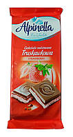 Шоколад Alpinella Truskawkowa молочный с клубникой 90гр. Польша