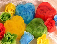 Мыло с мыльными лепестками роз