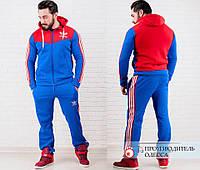 Мужской спортивный костюм Адидас с начесом  ро1056