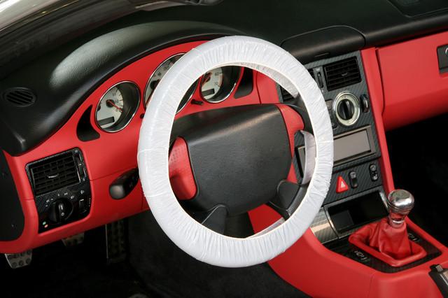 Одноразовые защитные чехлы на руль для автомобиля
