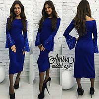Вечернее платье с дорогим гипюром