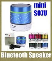 Портативный мини-динамик S-07U Bluetooth (USB+TF+радио) (цвета в ассортименте)