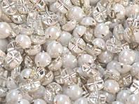 Камень жемчуг пришивной (9мм)1000шт.