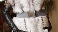 Пояс замшевый серый с кожаной серебряной пряжкой