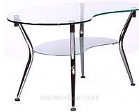 Журнальный стол KSD-CT-006 каркас хром, прозрачное закаленное стекло