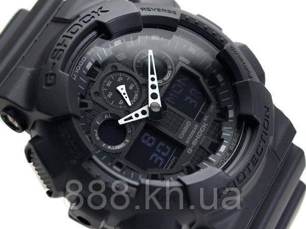 Casio g-shock ga-100 черный матовый реплика