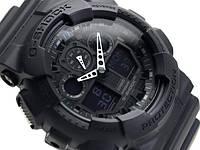 Casio g-shock ga-100 черный матовый реплика, фото 1