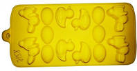 7158 Шоколад / Лед Утки 12 шт 20*12*2см, кондитерские принадлежности